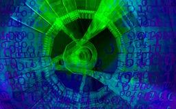 Priorità bassa di tecnologia Codice binario Estratto Big Data royalty illustrazione gratis