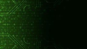 Priorità bassa di tecnologia Codice macchina binario Vettore Illustratio illustrazione vettoriale