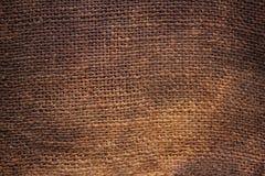 Priorità bassa di tela da imballaggio naturale Fotografie Stock Libere da Diritti