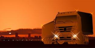 Priorità bassa di tema di logistica di vettore Fotografie Stock Libere da Diritti