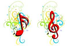Priorità bassa di tema di musica Immagini Stock