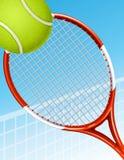 Priorità bassa di tennis Fotografie Stock Libere da Diritti