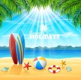 Priorità bassa di vacanza estiva Immagine Stock
