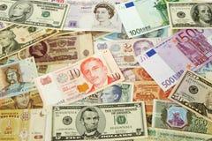 Priorità bassa di valuta Fotografie Stock Libere da Diritti