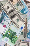 Priorità bassa di valuta di carta Fotografia Stock