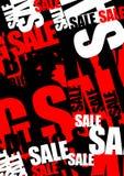 Priorità bassa di vendita Immagini Stock
