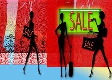 Priorità bassa di vendita illustrazione vettoriale