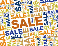 Priorità bassa di vendita di colore Fotografie Stock