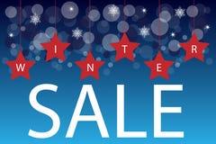 Priorità bassa di vendita di inverno Immagini Stock