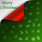 Priorità bassa di verde di Buon Natale Fotografie Stock