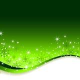 Priorità bassa di verde di nuovo anno. Fotografia Stock