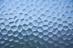 Priorità bassa di vetro astratta blu della carne di struttura. Fotografie Stock