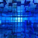 Priorità bassa di vetro blu astratta Fotografia Stock