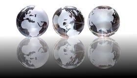 Priorità bassa di vetro dei globi Immagini Stock