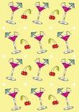 Priorità bassa di vetro del Martini Fotografie Stock Libere da Diritti