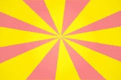 Priorità bassa di vetro macchiato di colore giallo e di colore rosa Fotografie Stock
