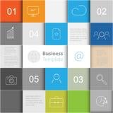 Priorità bassa di vettore con i quadrati Infographics del modello di affari royalty illustrazione gratis