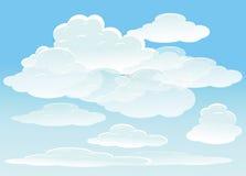 Priorità bassa di vettore con il cielo Fotografia Stock