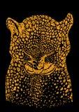 Priorità bassa di vettore con il leopardo selvaggio Fotografia Stock Libera da Diritti