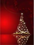 Priorità bassa di vettore con l'albero di Natale Immagini Stock