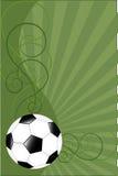 Priorità bassa di vettore con la sfera di calcio Fotografia Stock Libera da Diritti