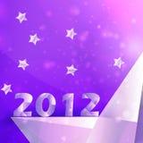 Priorità bassa di vettore delle stelle di anno 2012 Fotografie Stock