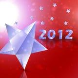 Priorità bassa di vettore delle stelle di anno 2012 Immagini Stock