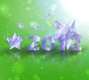 Priorità bassa di vettore delle stelle di anno 2012 Immagini Stock Libere da Diritti