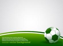 Priorità bassa di vettore di calcio Immagini Stock Libere da Diritti