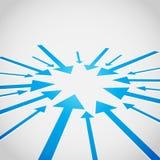 priorità bassa di vettore di disegno della freccia 3D Immagini Stock Libere da Diritti