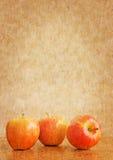 Priorità bassa di XL con le mele Fotografie Stock