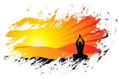 Priorità bassa di yoga Fotografie Stock