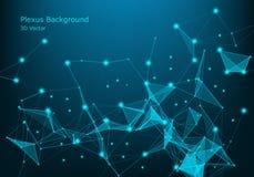 Priorità bassa digitale astratta Grande visualizzazione di dati Struttura della connessione di rete Priorità bassa di scienza Ill illustrazione di stock
