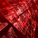 Priorità bassa digitale rossa della sfera Immagini Stock Libere da Diritti