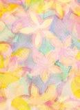 Priorità bassa dipinta a mano dell'acquerello astratto Reticolo di fiore Fotografia Stock Libera da Diritti