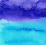 Priorità bassa dipinta a mano dell'acquerello blu astratto Cielo o contesto dell'oceano illustrazione vettoriale