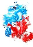 Priorità bassa disegnata a mano astratta della vernice Fotografia Stock