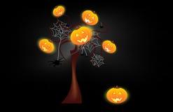 Priorità bassa divertente di Halloween con le zucche Immagine Stock Libera da Diritti