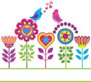 Priorità bassa divertente variopinta decorativa del fiore Fotografia Stock Libera da Diritti