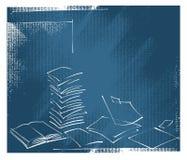 Priorità bassa - documenti dell'ufficio, simboli aperti del libro illustrazione vettoriale
