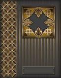 Priorità bassa dorata decorativa. Fotografie Stock