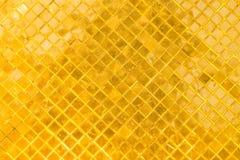 Priorità bassa dorata del mosaico Fotografia Stock