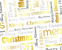Priorità bassa dorata del testo di Buon Natale Fotografia Stock Libera da Diritti