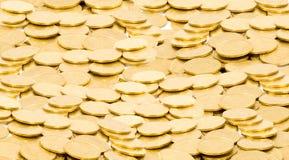 Priorità bassa dorata delle monete Immagine Stock Libera da Diritti