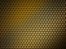 Priorità bassa dorata di griglia del metallo Fotografia Stock Libera da Diritti
