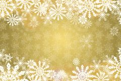 Priorità bassa dorata di inverno Fotografia Stock