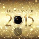 Priorità bassa dorata di nuovo anno felice illustrazione di stock