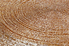 Priorità bassa dorata di struttura del beadwork Fotografia Stock