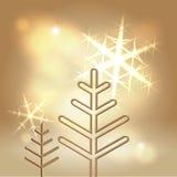 Priorità bassa dorata festiva di feste felici Fotografia Stock