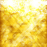 Priorità bassa e posto dorati delle stelle per il vostro testo. Immagini Stock Libere da Diritti